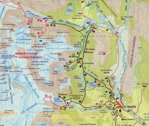 El Chalten Argentina mapa