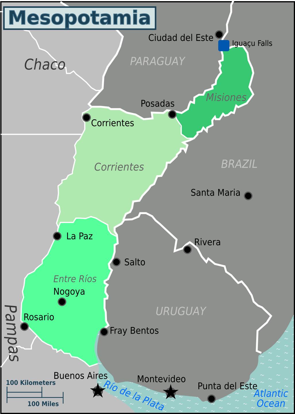 Mesopotamia Argentina mapas